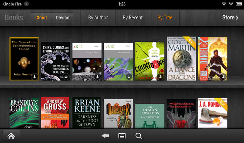 Kindle Fire library